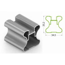 Профиль H хром 5400мм